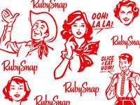 Talking Heads for RubySnap Cookies Box