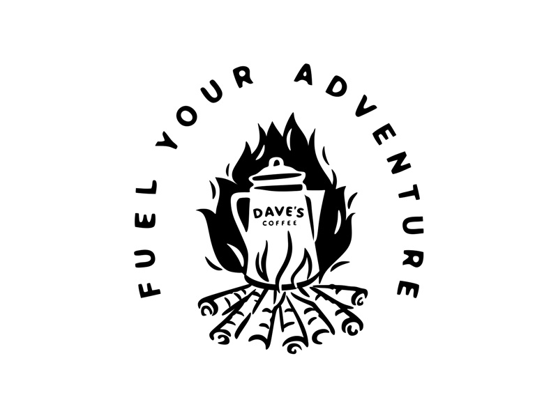 Dave's Coffee, Fireside Box Set fire coffee pot enamel mug mug campfire forest wild wood fuel adventure outdoors camping coffee illustration retro classic fireside