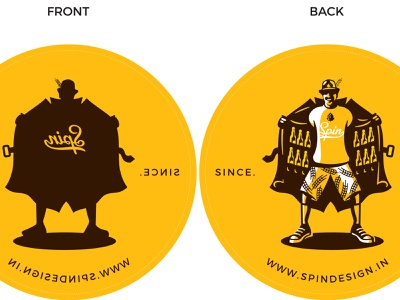 spindesign.in custom classic typography design identity vector branding retro illustration vintage logo