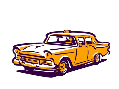 WIP Ford Taxi design branding speed custom vector old retro classic illustration vintage ford