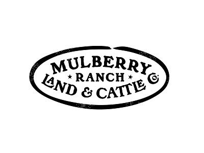 Mulberry Ranch cattle ranch texas typography identity custom branding retro classic illustration logo vintage