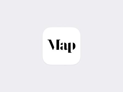 Map iOS app—Icon branding logo icon travel automotive auto carplay car nav navigation map maps design iphone concept ios apple ux ui app