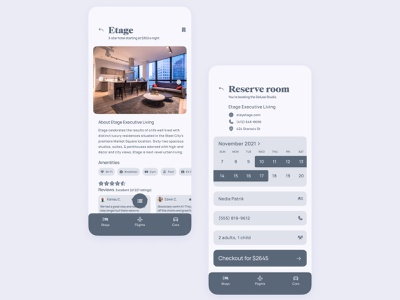 Travel app UI | Book a stay modern minimal simple clean rental vrbo expedia airbnb hotel travel interface mobile design concept ui app