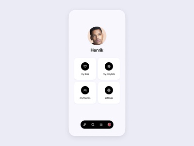Music App UI | Profile ios minimal clean modern mobile airpods headphones earbuds spotify tidal amazon pandora streaming audio music design concept apple ui app