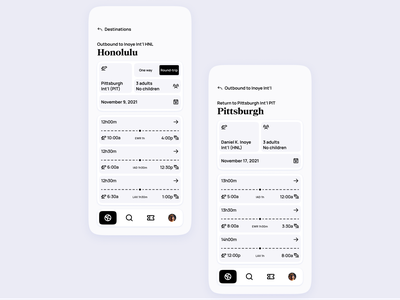 Airline App UI | Flights selection pass boarding expedia booking minimal modern clean flights flight traveling travel airport airlines airline tickets ticket ui design concept app