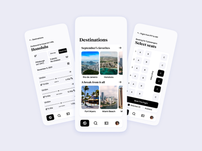Airline App UI booking expedia pass boarding minimal modern clean airport traveling travel tickets ticket flights flight airlines airline design concept ui app