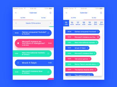 Game Festival App Concept - Calendar