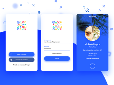 Game Festival App Concept - Sign in & Profile