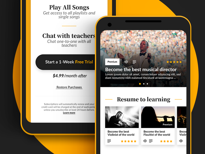 Learning - Classical Music App #2 by Michele Mappa on Dribbble