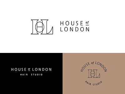 HOL salon hair monogram outline serif house of london