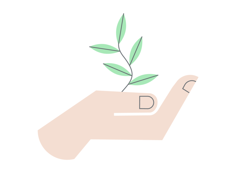 work/life healing natural finger nails grow plant icon hand