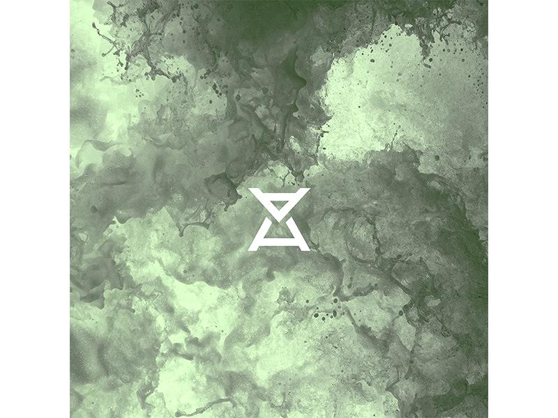 AFTRHR simple design branding music pop sidegig moonlight grid logo icon time clock bull logo h a ah hourglass