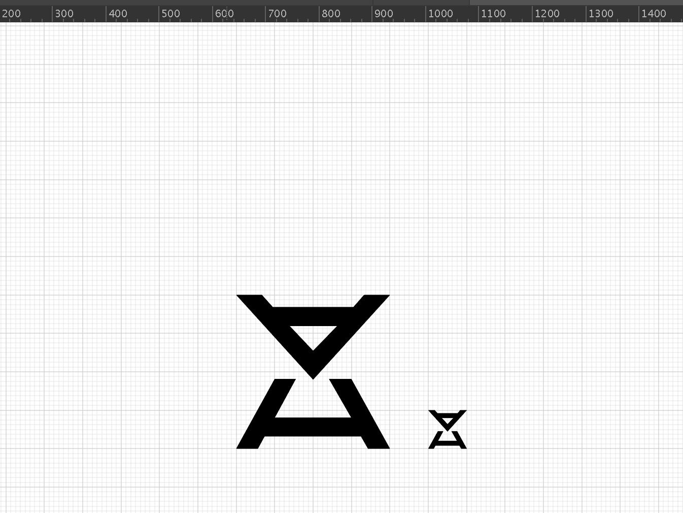 AHahahahahahahahahahahahaha future futuristic spacey electronic pop band music branding grid alien monogram hourglass letters logo ah h a