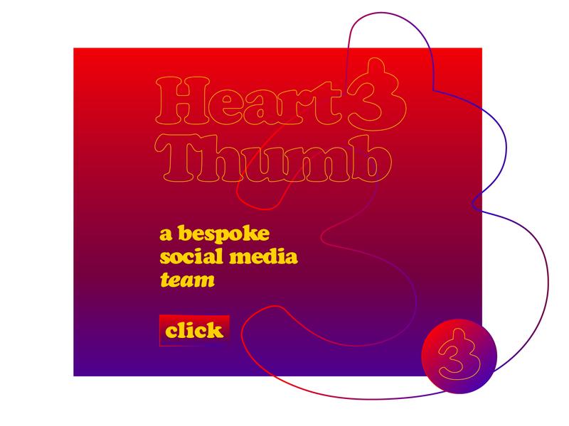 bleed out logo digital marketing social media thumb heart ampersand