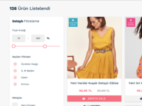 e-commerce product filter
