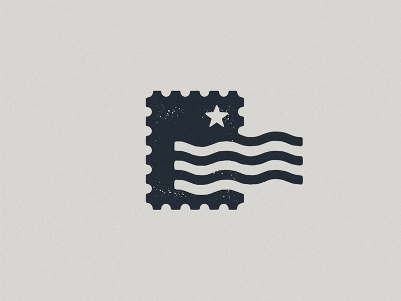 Just Another Stamp stamp logo identity seal waves stripes texture travel icon georgetown postage