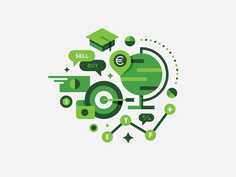 Around the Globe e-commerce illustration global currency finance