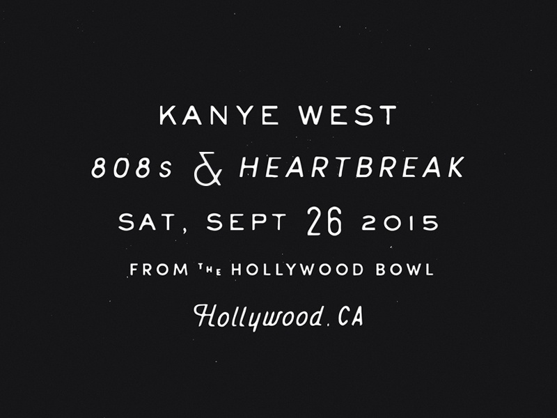 Hollywood Bowl kanye music live lettering type