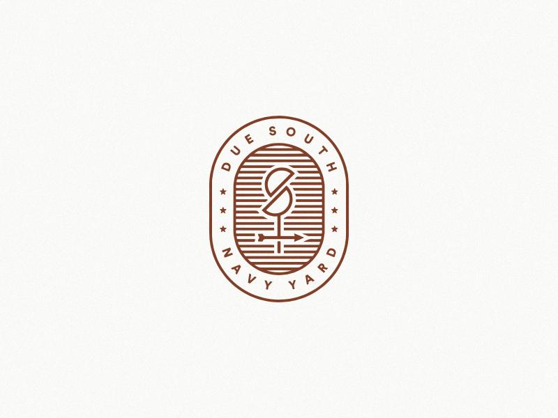 Due South weathervane stamp south bird logo mark identity branding restaurant