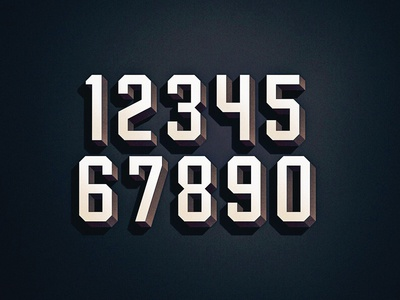 Numbers type sports racing nascar italic font display
