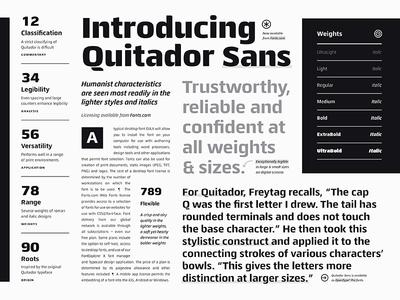 Fonts.com Quitador Sans