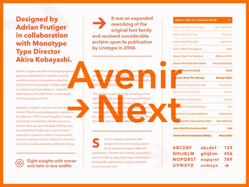 Fonts com Avenir Next by Chris Allen on Dribbble