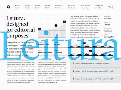 Fonts.com Leitura leitura font fonts.com layout specimen type editorial