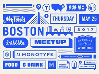MyFonts Boston Dribbble Meetup