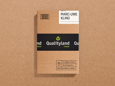 Qualityland Cover print cover art dust jacket book jacket cover book