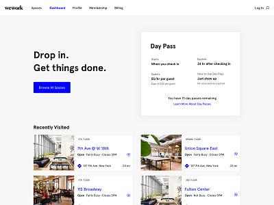 Spacious Website redesign ui website
