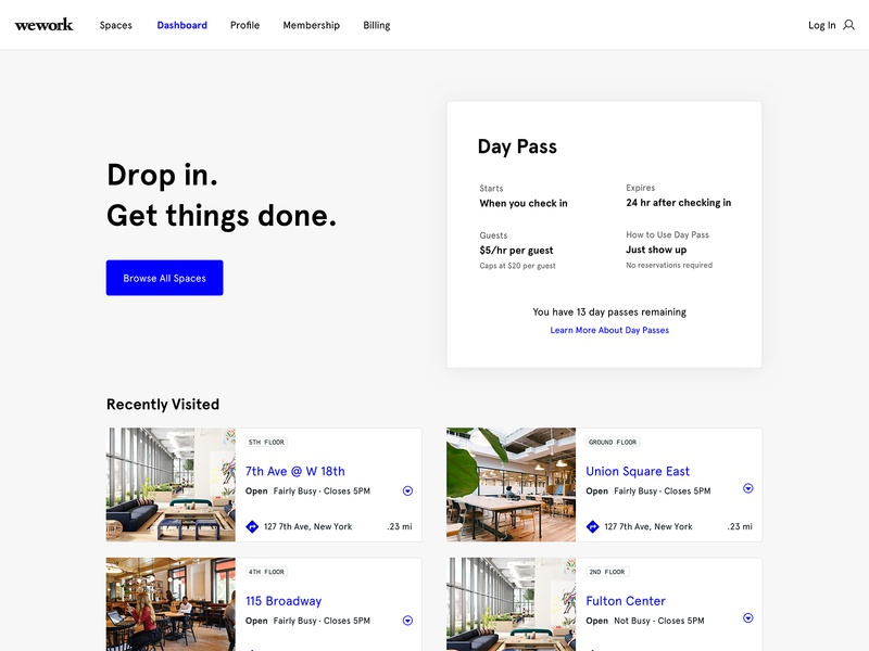 Spacious Website redesign ui website