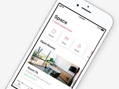 WeWork App rooms design system app design ui