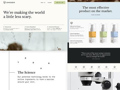 Longsleeve Landing Page shopify cosmetics landing page website webdesign