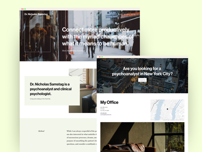 Psychoanalyst in New York City therapy map therapist new york city squarespace website ui landing page homepage