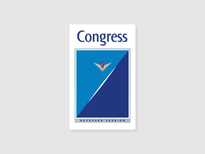 Congress packaging cigarettes illustration government congress