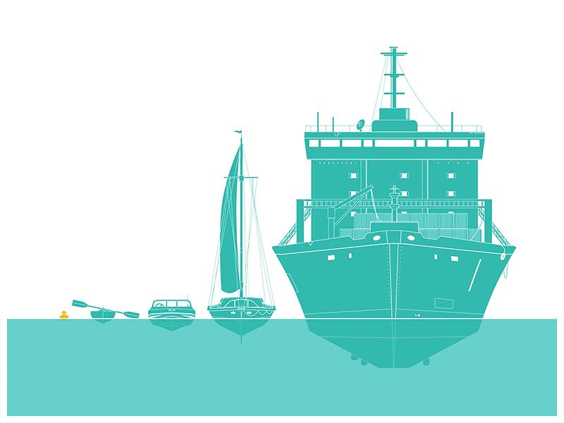 'Mixed Race' print vector illustration blue boat gallery race rubber duck saatchi screenprint sea silkscreen water