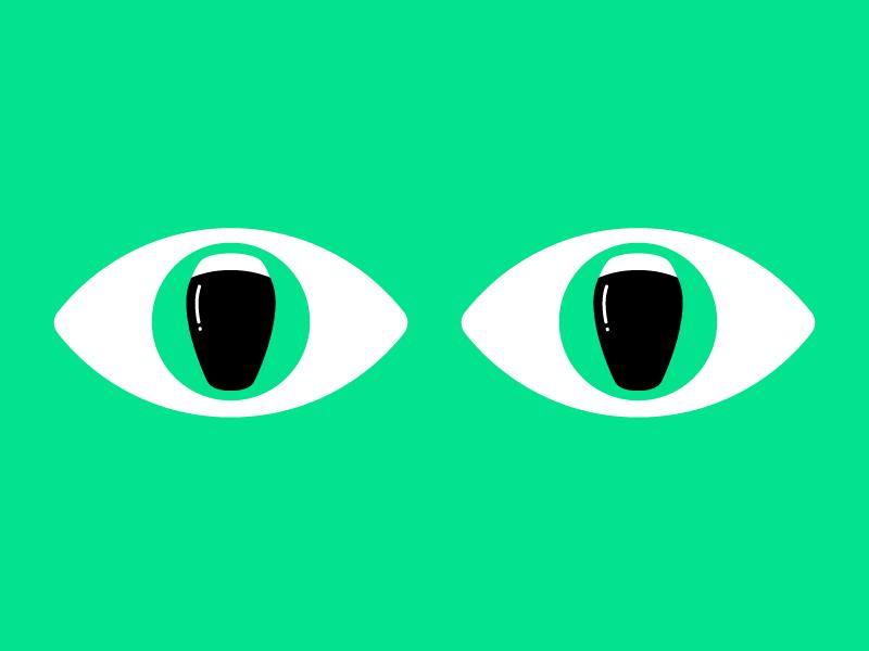 Pints eyes pub ireland goggles beer pint pupil eyes vector illustrator guinness irish st patricks day