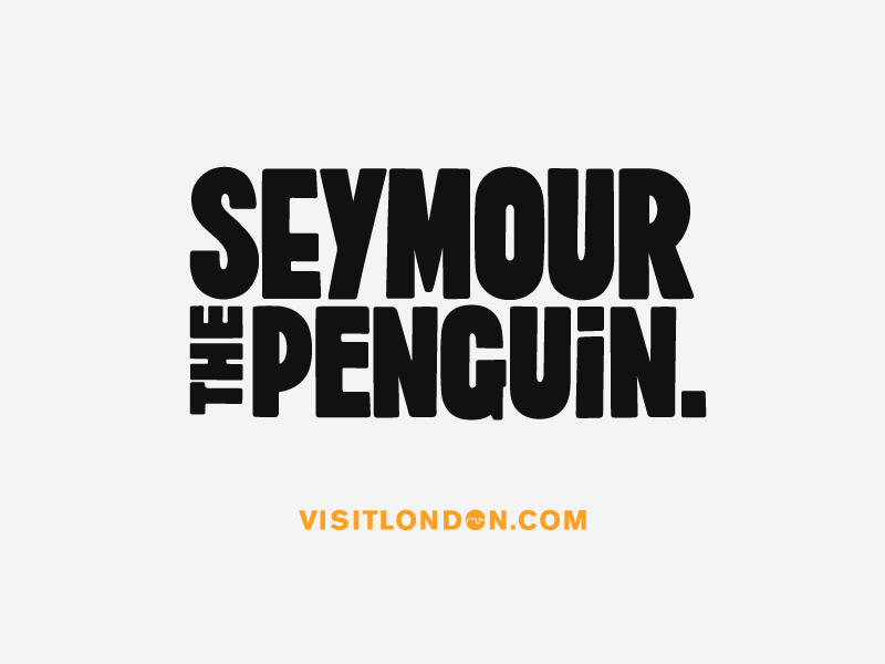 Seymour the Penguin Titles lettering typography hand drawn font type animation vector visit london penguin see more seymour