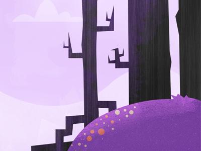 Purple hill