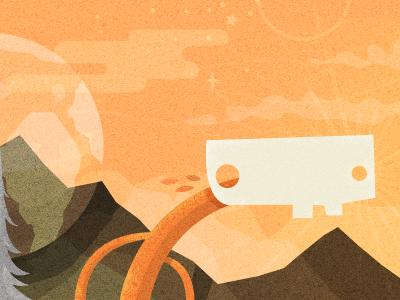 Dusk: Peak grooveshark illustration creatures dusk time theme