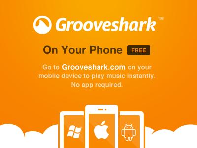 Grooveshark Mobile (HTML5 app) grooveshark mobile ad html5 illustration branding
