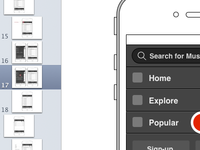 Wireframes for Top-Level Navigation