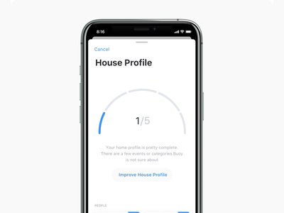 Bouy - Profile scoring engagement gamification profile iphone