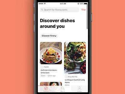 LocalGusto recommendations discover food restaurant prototype ios