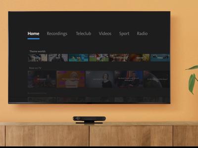 SwisscomTV ios interface tv
