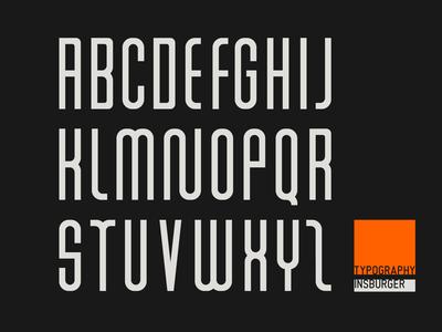 INSBurger Typography brand font letter logotype mark symbol logo design identity branding typography