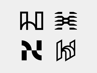 H Logo logotype brid brand typography branding symbol identity design mark logo