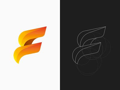 F + S Logo identity brand design s letter typography symbol mark fire f logo