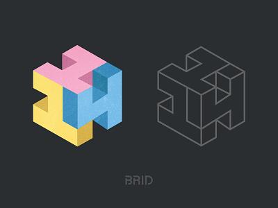 114 Cube Logo 114 icon colorful letter mark monogram isometric mark 3d cube design identity branding logo