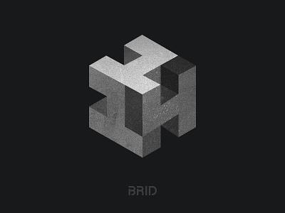 114 cube isometric design brid mark numbers cube 3d identity brand stone 114 logo
